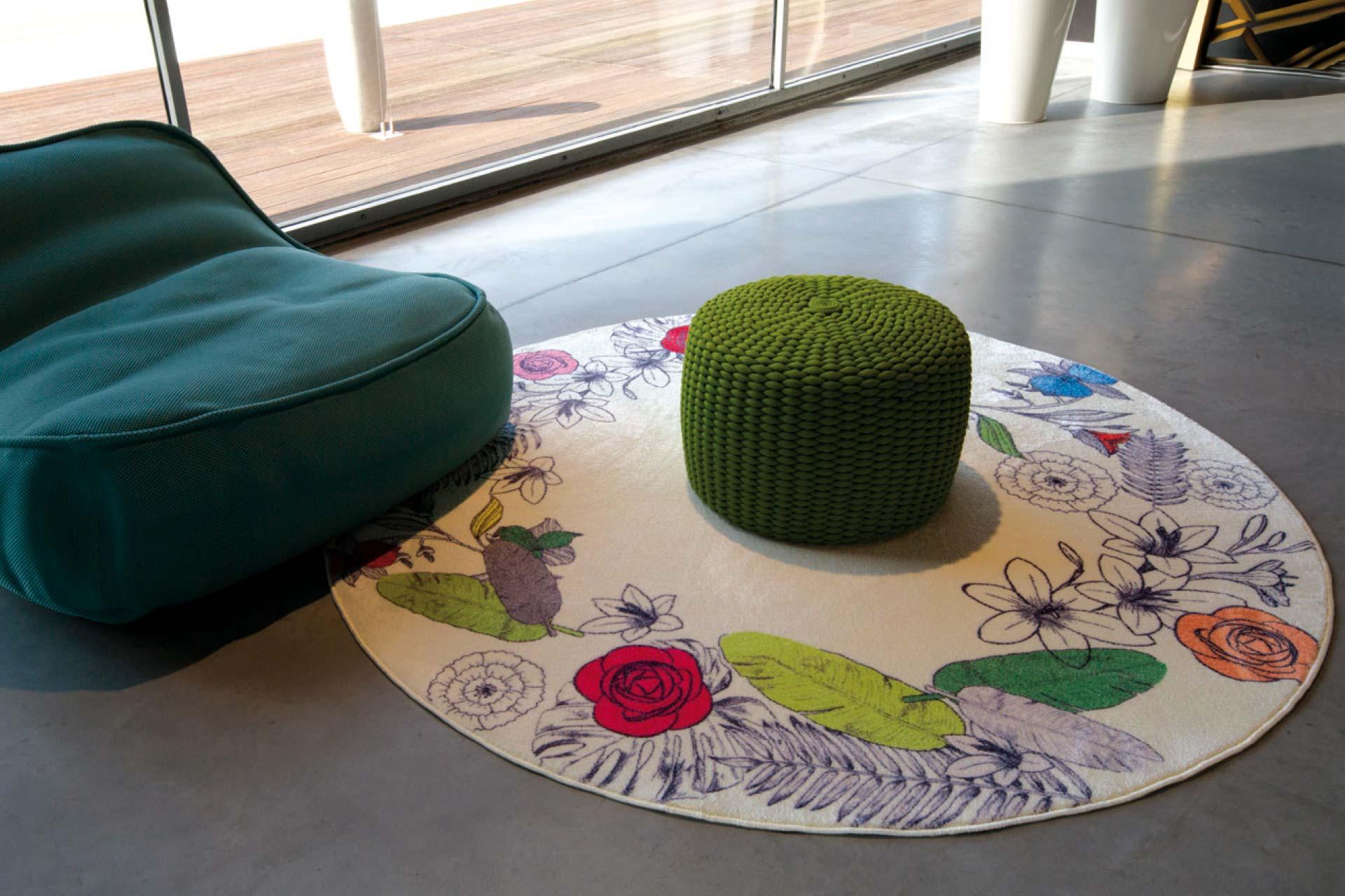 Siba tende tappeto Flower Round