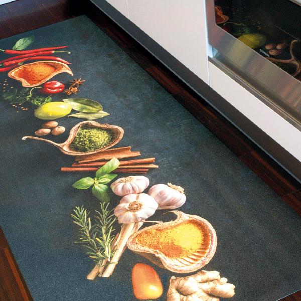 Tende siba tappeto cucina con spezie